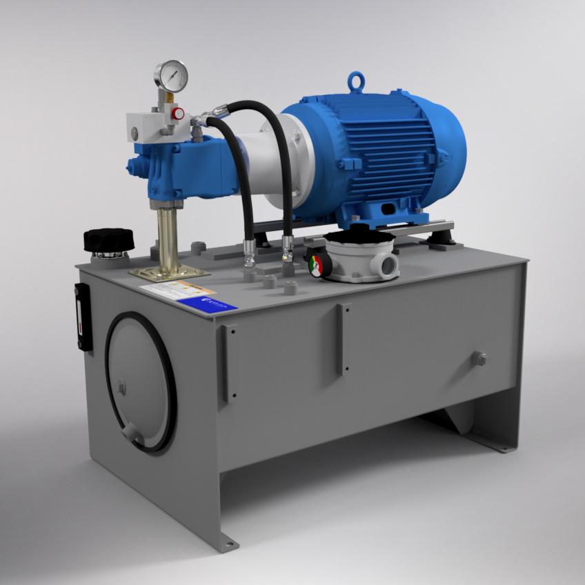15 HP High-Pressure Hydraulic Power Unit