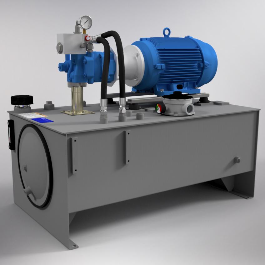 20 HP Medium-Pressure Hydraulic Power Unit