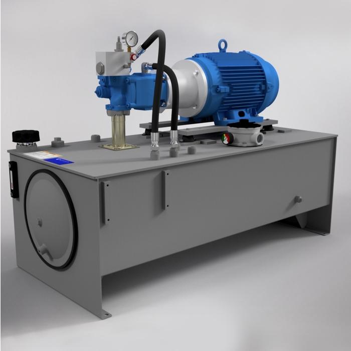 25 HP Medium-Pressure Hydraulic Power Unit