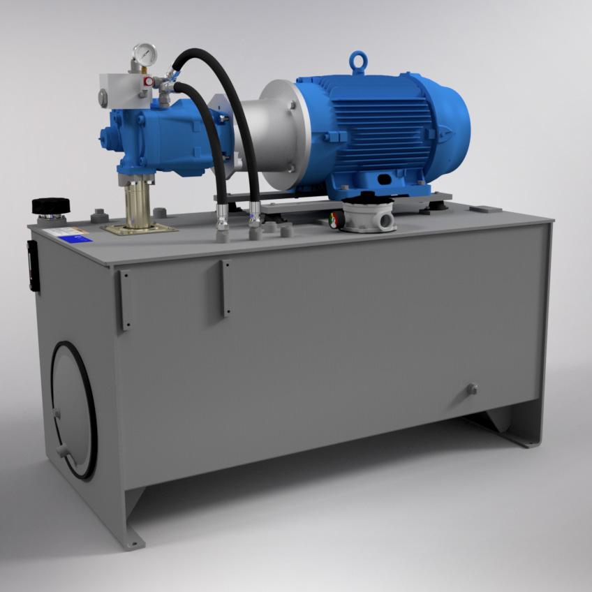 50 HP Medium-Pressure Hydraulic Power Unit