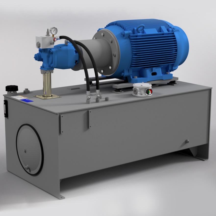 125 HP High-Pressure Hydraulic Power Unit