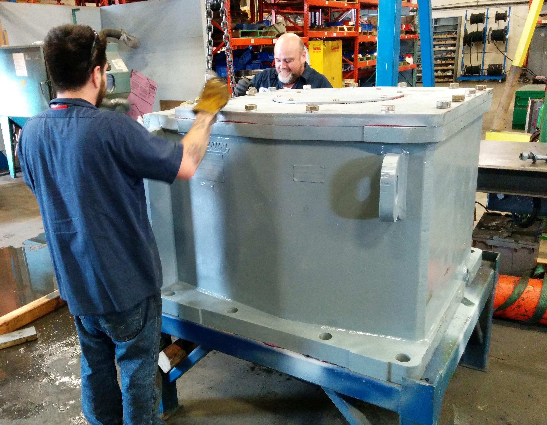 Lightnin Gearbox undergoing repairs